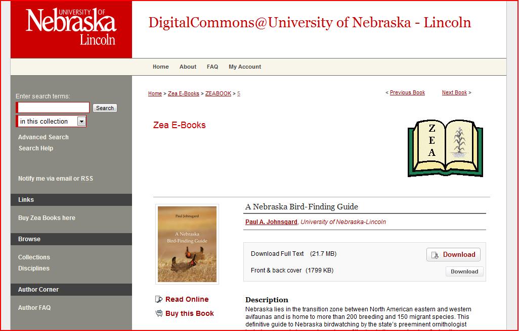 -A Nebraska Bird-Finding Guide- by Paul A. Johnsgard