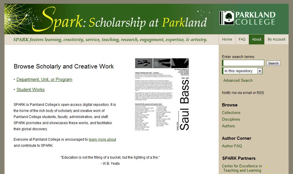 SPARK- Scholarship at Parkland - Parkland College