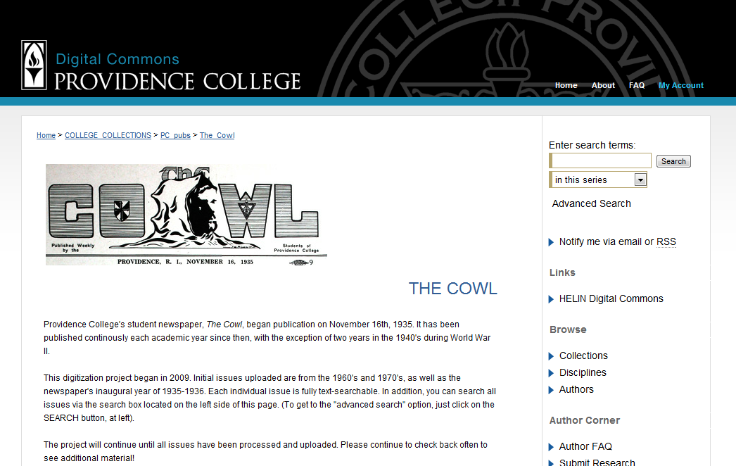 The Cowl - Providence College Publications - Providence College