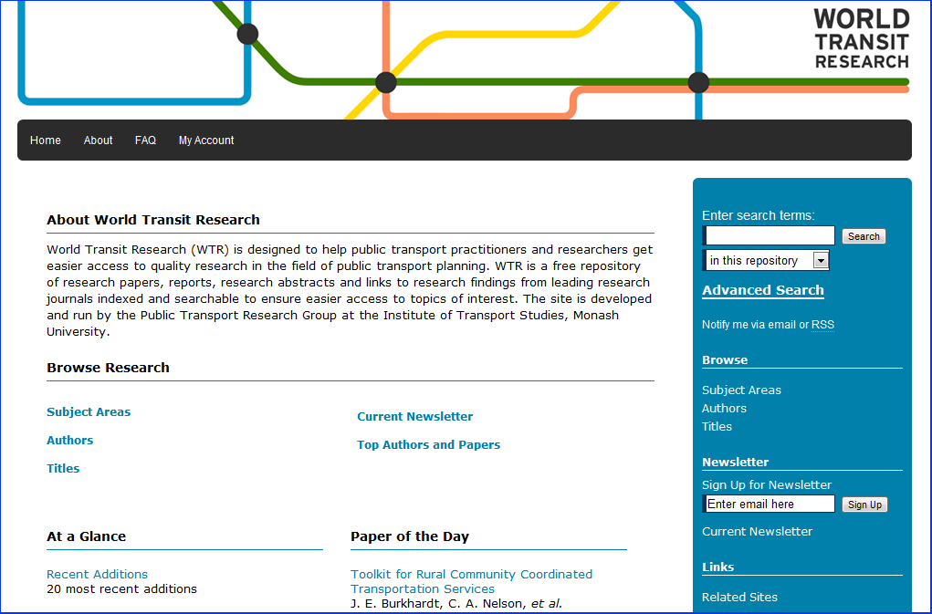 World Transit Research - Institute of Transport Studies, Monash University Research