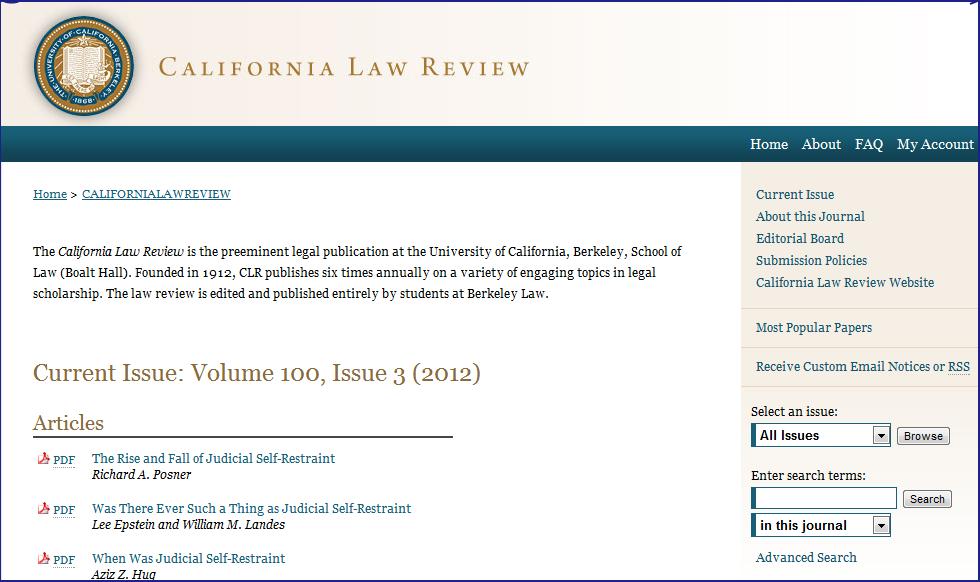 California Law Review - Berkeley Law