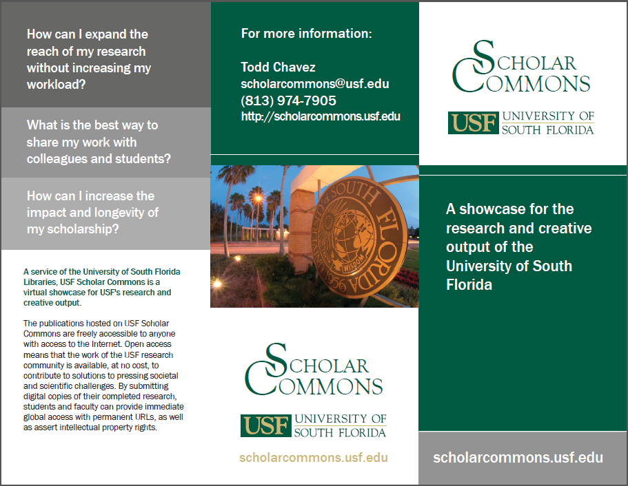 USF's Scholar Commons brochure