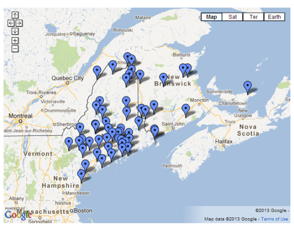 Maine Folklife Center Map