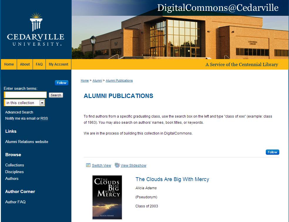 Alumni Publications - Alumni Association - Cedarville University