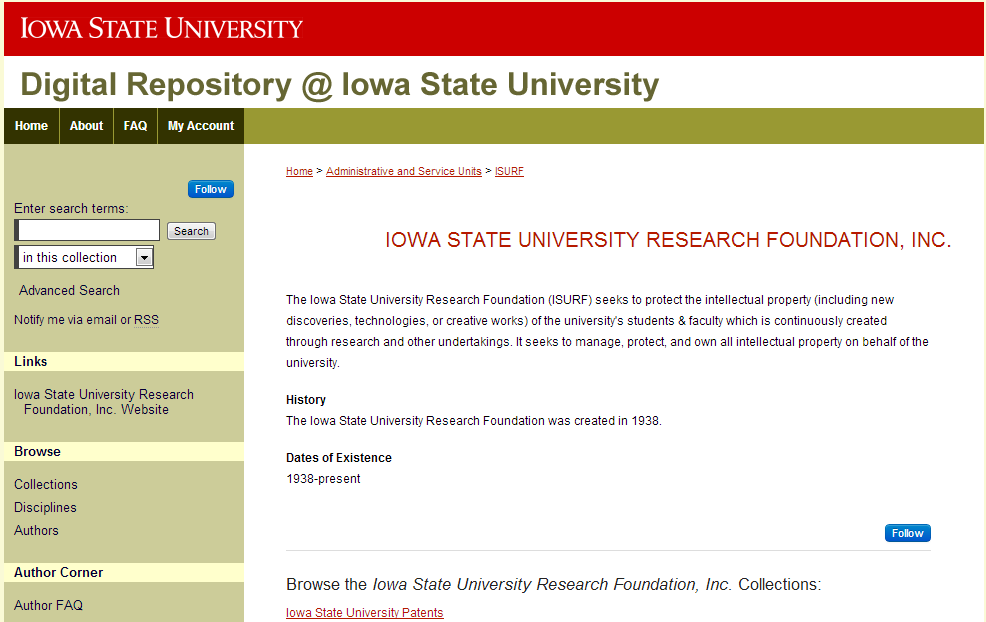 Iowa State University Research Foundation, Inc. - Iowa State University Research - Digital Repository @ Iowa State University