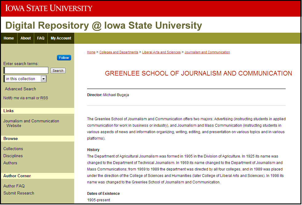 Greenlee School of Journalism and Communication - Iowa State University Research - Digital Repository @ Iowa State University