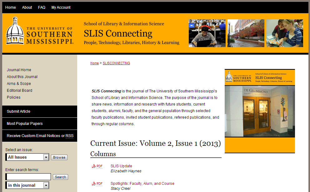 SLIS Connecting - The University of Southern Mississippi