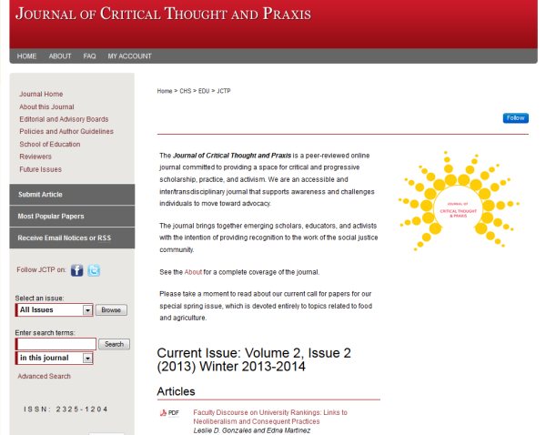 Iowa State's student-run Journal of Critical Thought and Praxis