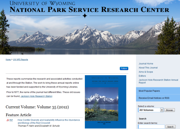 University of Wyoming National Park Service Research Center - WySR
